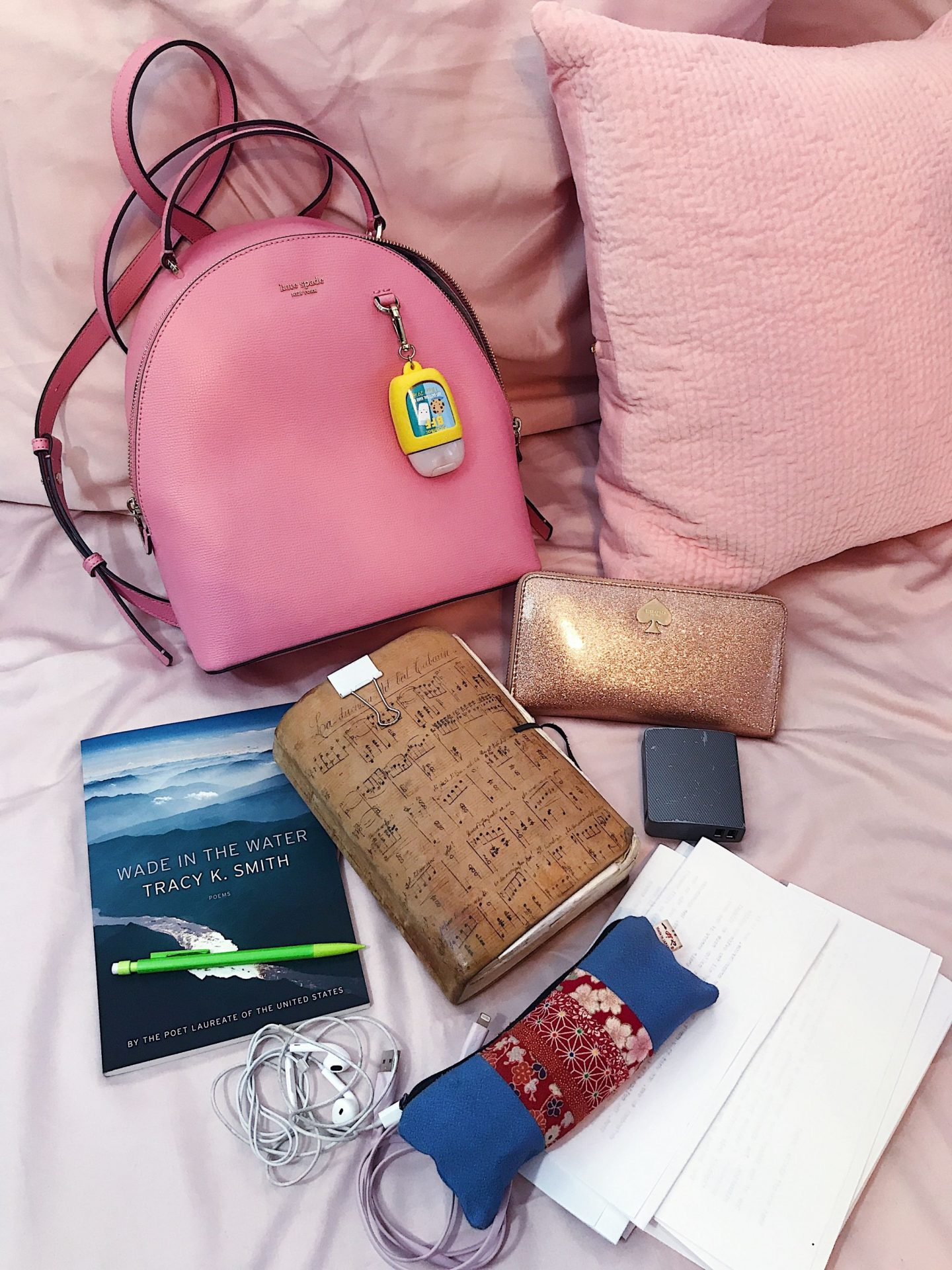 Contents of my Kate Spade Sylvia Backpack