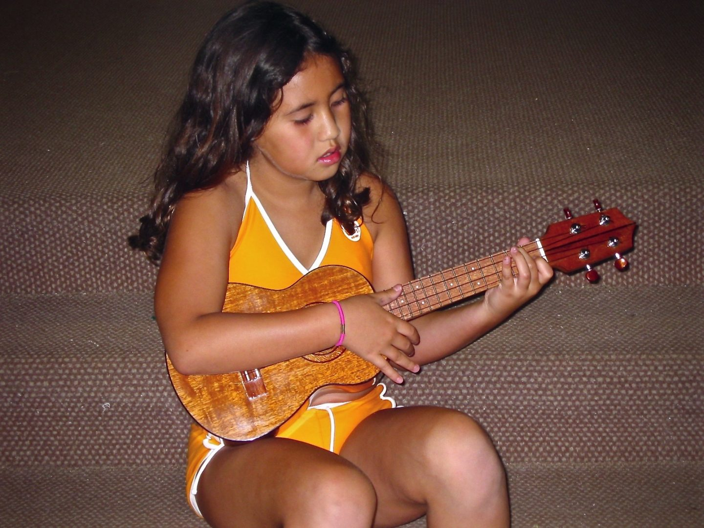 Me playing my first instrument