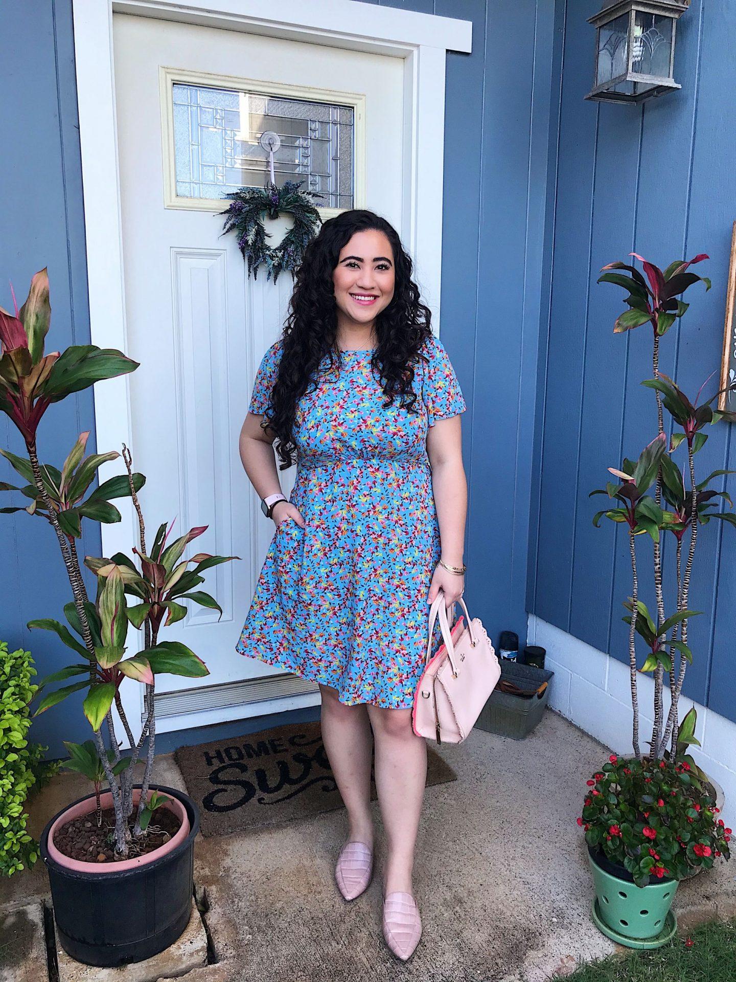 A summery blue dress