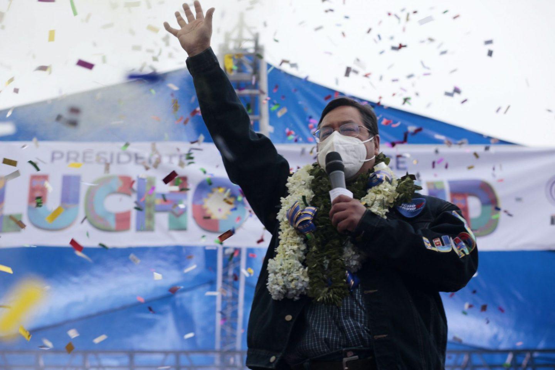 Movement Toward Socialism candidate Luis Arce
