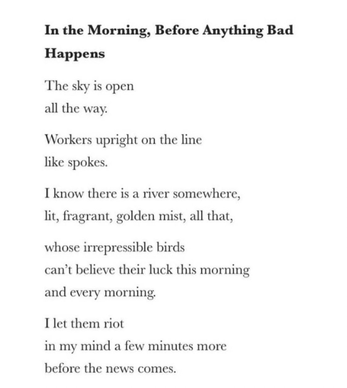 The first of the poems in October