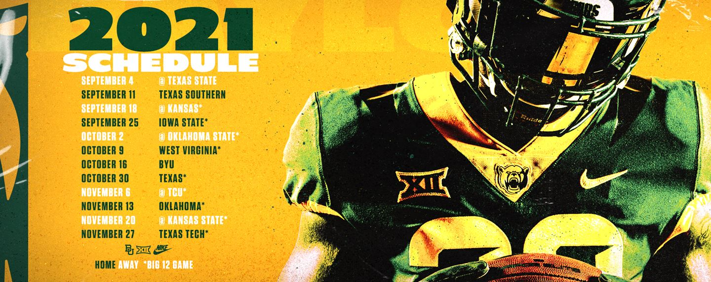 The 2021 Baylor Football schedule