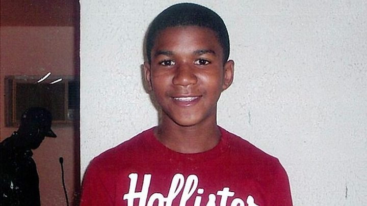 Trayvon Martin nine years ago