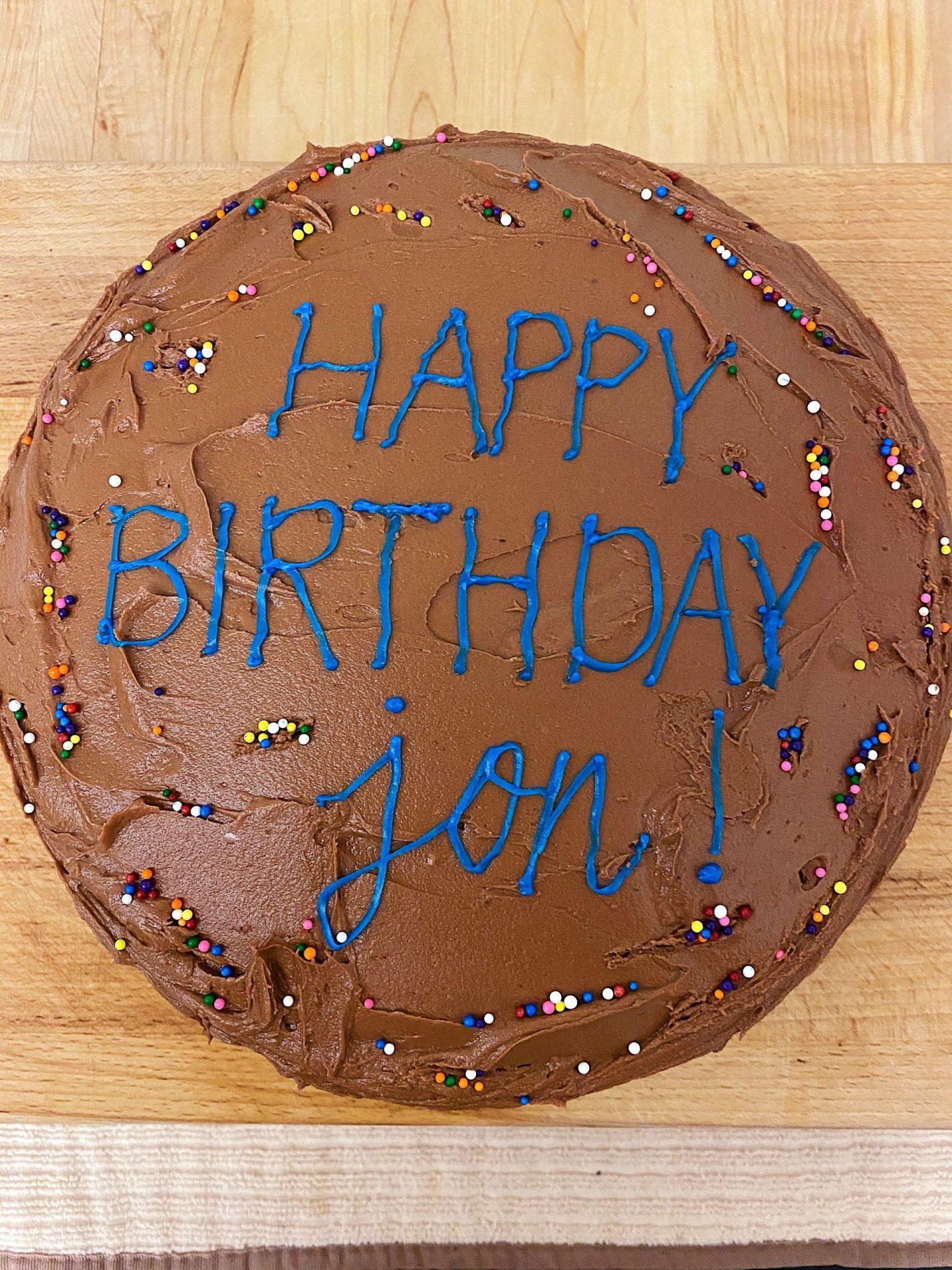 My first chocolate cake