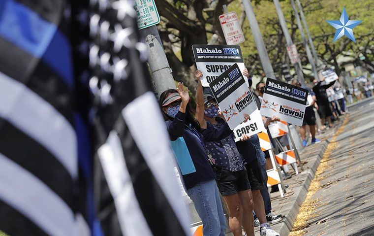 A rally featuring Hawaiʻi's love for HPD