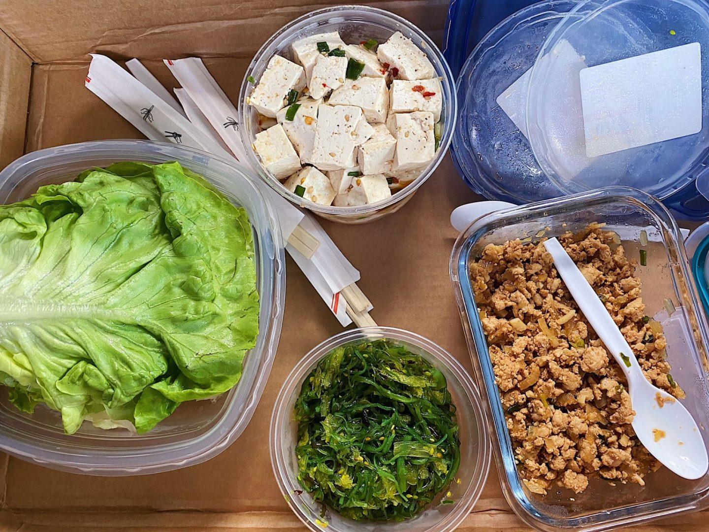 Build your own lettuce wraps