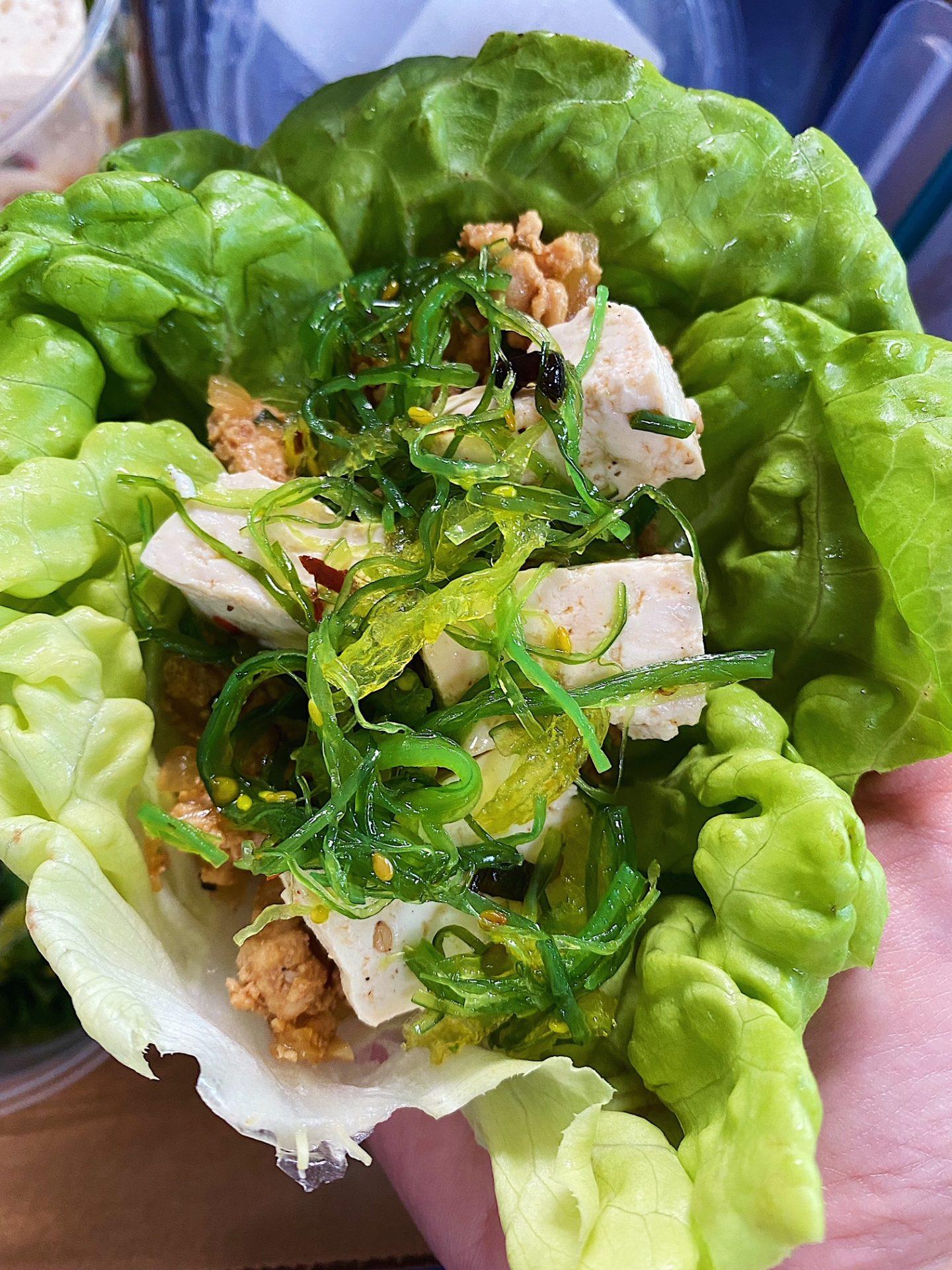 Put together lettuce wraps